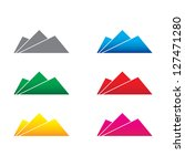 mountain abstract icon | Shutterstock .eps vector #127471280