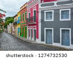 cobbled street in historic...   Shutterstock . vector #1274732530