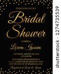 bridal shower invitation card.... | Shutterstock .eps vector #1274735539