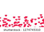 valentine day pink red hearts... | Shutterstock . vector #1274745310