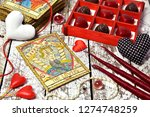 love magic ritual with red... | Shutterstock . vector #1274748259