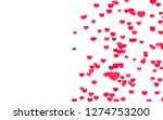 valentine day pink red hearts... | Shutterstock . vector #1274753200