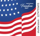 national freedom day. american... | Shutterstock .eps vector #1274755693