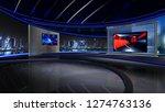 d rendering virtual set studio... | Shutterstock . vector #1274763136