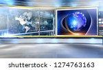 d rendering virtual set studio... | Shutterstock . vector #1274763163