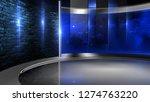 d rendering virtual set studio... | Shutterstock . vector #1274763220