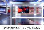 d rendering virtual set studio... | Shutterstock . vector #1274763229