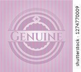 genuine pink emblem. vintage. | Shutterstock .eps vector #1274770009