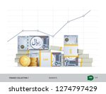 growth graph with bundles of... | Shutterstock .eps vector #1274797429