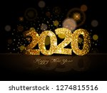 gold 2020 happy new year on the ... | Shutterstock .eps vector #1274815516