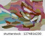 bright multi colored painting ... | Shutterstock . vector #1274816230