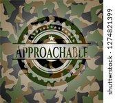 approachable written on a... | Shutterstock .eps vector #1274821399