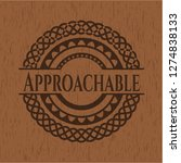 approachable vintage wooden... | Shutterstock .eps vector #1274838133