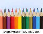 assorted color pencil group of... | Shutterstock . vector #1274839186
