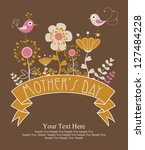 happy mothers day card design....   Shutterstock .eps vector #127484228