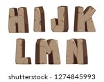 stone alphabets h to n part 2 | Shutterstock .eps vector #1274845993