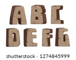 stone alphabets a to g part 1 | Shutterstock .eps vector #1274845999