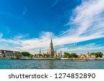 temple of dawn wat arun blue... | Shutterstock . vector #1274852890