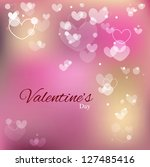 love background  valentines day ... | Shutterstock .eps vector #127485416