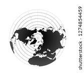 arctic pole globe hemisphere.... | Shutterstock .eps vector #1274854459