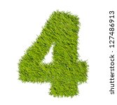 numbers from the green grass ... | Shutterstock . vector #127486913