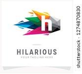letter h logo design with... | Shutterstock .eps vector #1274870830