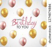 abstract happy birthday balloon ... | Shutterstock .eps vector #1274874886