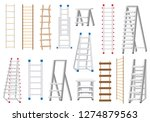 ladders set made from different ... | Shutterstock .eps vector #1274879563