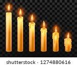 burning candle. burn church...   Shutterstock .eps vector #1274880616