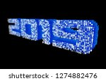 futuristic blue 2019 new year... | Shutterstock . vector #1274882476
