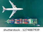 aerial view logistics and...   Shutterstock . vector #1274887939