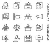 democracy icons pack. isolated... | Shutterstock .eps vector #1274898490