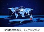 digital speech box showing... | Shutterstock . vector #127489910