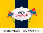 happy makar sankranti festival...   Shutterstock .eps vector #1274901973