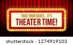 """theater time"" light sign.... | Shutterstock .eps vector #1274919103"