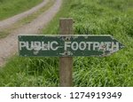 public footpath sign on the... | Shutterstock . vector #1274919349