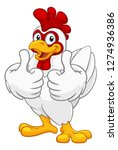 a chicken cartoon rooster... | Shutterstock .eps vector #1274936386