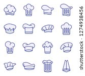 chef hat icons pack. isolated...   Shutterstock .eps vector #1274938456
