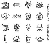 carnival icons pack. isolated...