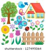 garden theme collection 1  ... | Shutterstock .eps vector #127495064