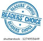 readers' choice. blue rubber... | Shutterstock .eps vector #1274955649