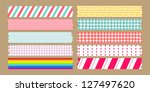 masking tape variety set | Shutterstock .eps vector #127497620
