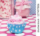Little Baby Cupcake On A Pink...