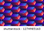 minimal geometric background.... | Shutterstock .eps vector #1274985163