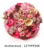 wedding bouquet with astrantia  ... | Shutterstock . vector #127499348