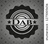 dab retro style black emblem | Shutterstock .eps vector #1275005656