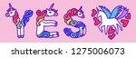 word yes unicorn. written by...   Shutterstock .eps vector #1275006073