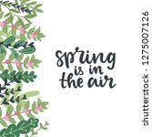 spring is in the air hand drawn ... | Shutterstock .eps vector #1275007126