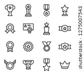 award icons pack. isolated... | Shutterstock .eps vector #1275007543