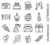 birthday icons pack. isolated...